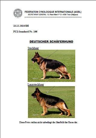 FCI Standard 166 - Deutscher Schäferhund